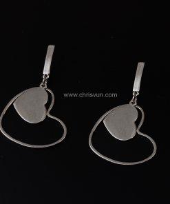 ต่างหูห้อยโครงหัวใจ ซ้อนหัวใจ-094-1