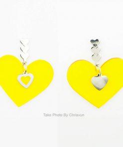 ต่างหูห้อยรูปหัวใจสีเหลือง-199-1