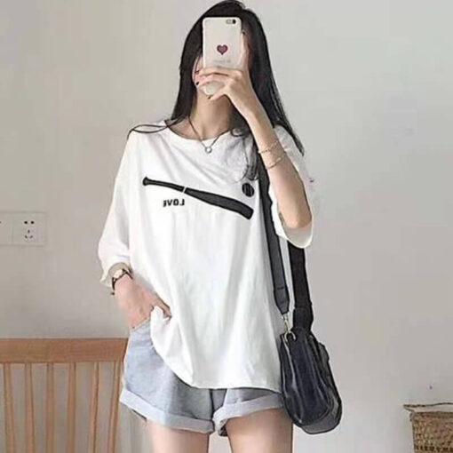 เสื้อ Oversize + กางเกงทรงหลวม-307-1