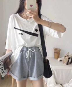 เสื้อ Oversize + กางเกงทรงหลวม-307-7