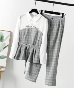 เซตสองชิ้น เสื้อ+กางเกงข-358-1