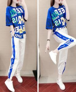 2 Piece Set - เสื้อ + กางเกงขายาว-564-1