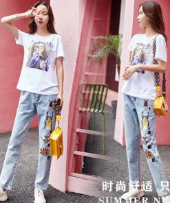 ชุดเซต - เสื้อ+กางเกงยีนต์-622