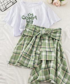 2 Set - เสื้อ+กระโปรง-681